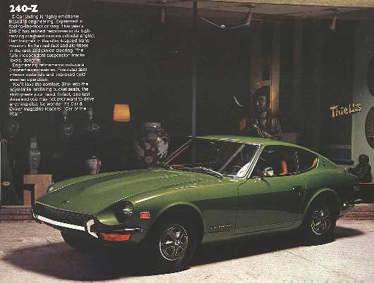 Datsun 240 Z >> 72 Datsun 240Z Brochure